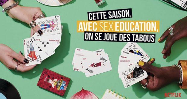 45000 jeux de cartes Sex Education offerts