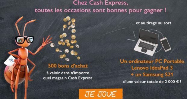 500 bons d'achats Cash Express de 10 euros offerts