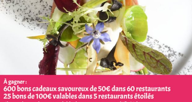 600 Bons Cadeaux gourmand de 50 euros offerts