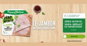 Jambon Zéro Nitrite Fleury Michon 100% Remboursé