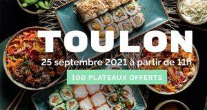Plateau de Sushi offerts aux 100 premiers clients