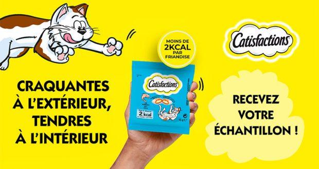 Échantillons gratuits de friandises pour chats Catisfactions
