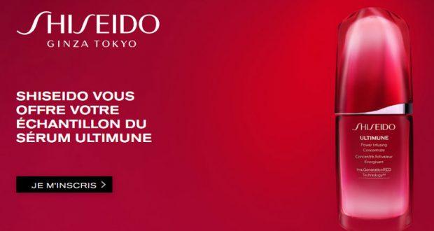 Échantillons gratuits du nouveau sérum Ultimune de Shiseido