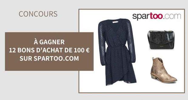 12 bons d'achat Spartoo de 100 euros offerts
