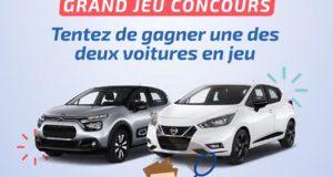 2 véhicules d'occasion offerts (valeur unitaire 20 000 euros)