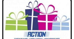 """237 chèques-cadeaux """"ACTION"""" offerts"""