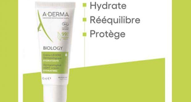 30 Crème légère dermatologique hydratante Biology A-DERMA à tester