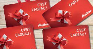 500 cartes cadeaux Auchan de 50 euros offertes