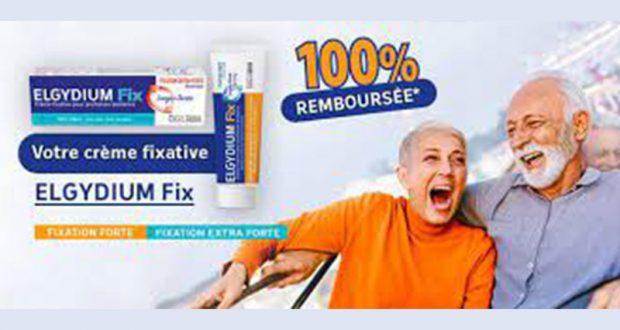Crème fixatrice ELGYDIUM Fix 100% Remboursée